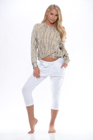 39cd3b3d4c04f Hard Tail Forever - Cross-Under Sweatshirt - Brynn   Rochelle